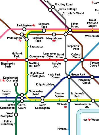 London tube map eurostar