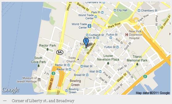 Plan d'accès à la place de la Liberté à New York, Liberty Plaza